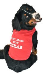 Ruff Ruff and Meow Dog Tank Top, Dont Mess With Texas, Red, Small