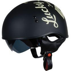 TORC T55 Spec-Op Half Helmet Lucky 13 - Flat Black - Size: Large