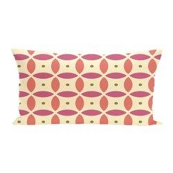 E By Design Beach Ball Geometric Print Outdoor Seat Cushion - Soft Lemon