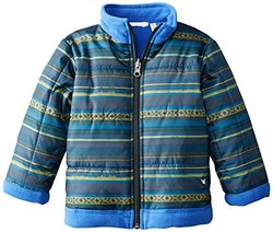 White Sierra Child's Armor Fleece Reversible Jacket - Asphalt Combo - SZ:3T