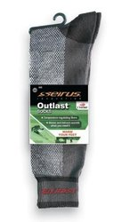 Seirus Innovation Men's Outlast Sock Liner - Black/Grey - Size: X-Large