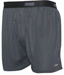 AYG Performance Tech Silk Boxer Shorts - Nickel - Size: Large