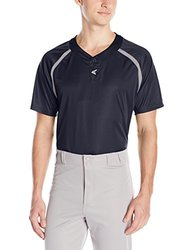 Easton Men's M7 Two Button Homeplate Jersey - Navy/Grey - Size: Medium