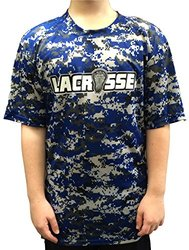 Amped Up Apparel Camo Shooter T-shirt - Royal Blue - Size: Youth Small