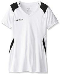 ASICS Girl's Junior Set Jersey, White/Black, Large