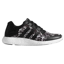 Adidas Women's Pure-Boost Q4e Running Shoes - Black/White - Size: 7.5