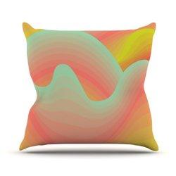 "Kess InHouse Akwaflorell ""Way of The Waves"" Outdoor Throw Pillow - 20x20"""