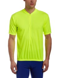 BDI Men's Classic Cycling Jersey, Neon Yellow, Small