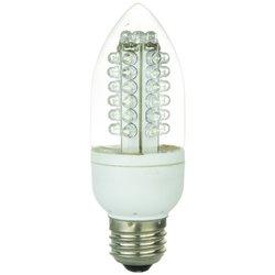 Sunlite CTC/43LED/3W/W LED 120-volt 3-watt Medium Based Chandelier Lamp, White Color