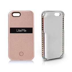 Selfie Lighted Smart Case W/ Built-in Power Bank & Led: Rose Gold / Iphone 6/6s