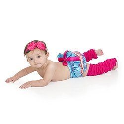 juDanzy baby girls gift box diaper cover set (0-6 Months, Beach Party)