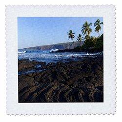 Keei Beach, Kealakekua, Hawaii - Us12 Dpb2131 - Douglas Peebles - Quilt Square, 12 by 12-Inch (qs_89781_4)