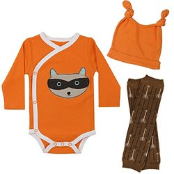 juDanzy Baby Boys Outfit Set - Rowdie Raccoon - Size: 3-6 Months