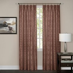 "Achim Home Furnishings Windsor Pinch Pleat Pane, 34 by 84"", Marsala"