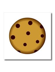 ht_43214_1 Large Chocolate Chip Cookie Cartoon Iron on Heat Transfer, 8 by 8""