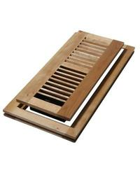 "DG 4"" x 10 ""Wood Flush Mount Floor Register - Natural Maple (WMLF410-N)"
