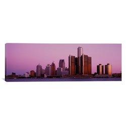 "iCanvasART ""Buildings in Detroit"" Canvas Art Print - 60""x20"""