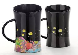 Cocera Formosa Treasure Color Changing Porcelain Cup - Glossy Black