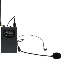 Audio 2000's Professional UHF Mobile Wireless Microphone System (AWM6014U)
