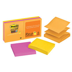 "Post-it 3""x3"" Super Sticky Pop-up Notes - Rio de Janeiro - 6 Pads"