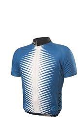 EVAKI Sportswear Men's Club Cut Cycling Jersey, Blue/White, Medium