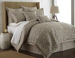 8 Piece Embroidered Comforter Sets: Danika/king