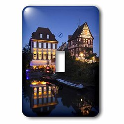 3dRose lsp_81729_1 France, Alsace, Colmar, Petite Venise, Lauch River Eu09 Wbi2074 Walter Bibikow Single Toggle Switch