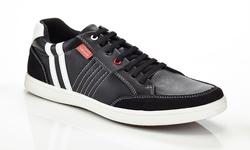 Franco Vanucci Men's Sneaker - Black - Size: 11.5