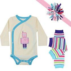 JuDanzy Baby Girls Gift Box Outfit Set - Rebekah Robot - Size: 12-18M