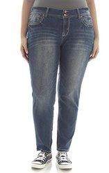 WallFlower Juniors Plus Size Luscious Curvy Skinny Jeans - Size: 14