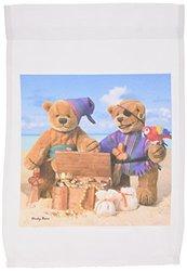 3dRose fl_13534_1 Dinky Bears Little Pirates Garden Flag, 12 by 18-Inch