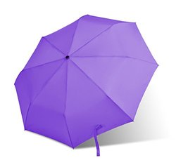 Bodyguard Auto Umbrella Compact for Travel By Easy Carrying - Purple