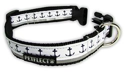 Petflect Anchors Away Reflective Collar, X-Large