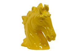 Urban Trends 46629-UT Decorative Ceramic Horse Head, Yellow