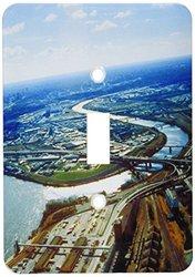 3dRose lsp_36377_1 Kansas City Aerial Single Toggle Switch