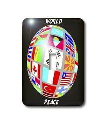 3dRose lsp_38913_1 World Peace Globe With All Countrys Flags Single Toggle Switch