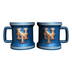 MLB New York Mets Sculpted Mini Mug (2-Pack)
