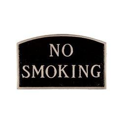 "Montague Metal ""No Smoking"" Arch Statement Plaque - Black/Silver"