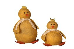 Your Heart's Delight Feathered Friends Peep Chicks, 5-1/2 to 8-1/2-Inch, Set of 2