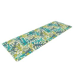 Kess InHouse Julia Grifol Yoga Exercise Mat - Tropical Leaves