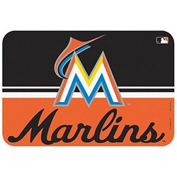 WinCraft MLB Miami Marlins Mat - Black/Orange - Size: 20x30""