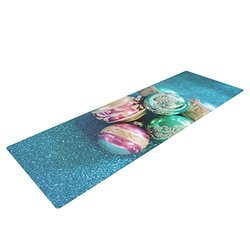 "Kess InHouse Sylvia Cook ""Vintage Glass"" Yoga Exercise Mat - Blue"
