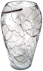 Jozefina Atelier Blues Clear Swirl Vase - Shiny Black