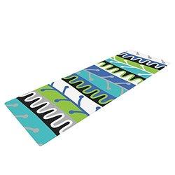 Kess InHouse Jacqueline Milton Yoga Mat - Aqua/Green - 72 x 24-Inch