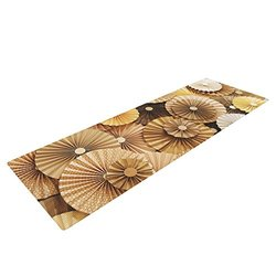 "Kess InHouse Heidi Jennings ""Caramel Latte"" Yoga Exercise Mat, Yellow/Gold, 72 x 24-Inch"