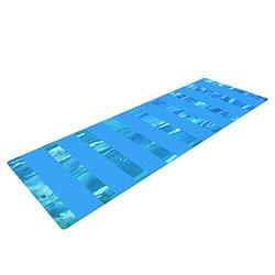 "Kess InHouse Rosie Brown Yoga Mat - Aqua/Blue - 72 x 24"""