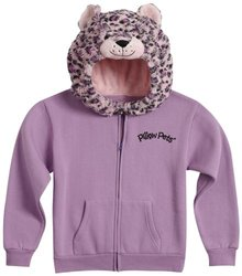 Pillow Pets Authentic Pink Leopard Sweatshirt- X-Small