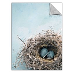 ArtWall ArtApeelz Elena Ray 'Blue Nest' Removable Wall Art Graphic 32 by 48-Inch