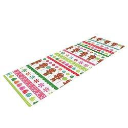 "Kess InHouse Heidi Jennings ""Gumdrop Buttons"" Yoga Exercise Mat, Gingerbread, 72 x 24-Inch"