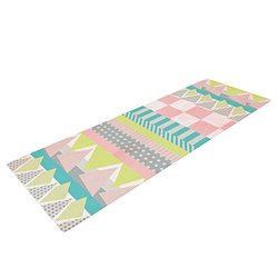 "Kess InHouse Louise Machado ""Luna"" Yoga Exercise Mat - Pastel - 72 x 24"""
